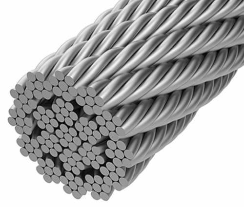 Stahlkabel für Seiltragwerk / offene Spirale