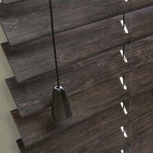 Jalousie-Rollo / aus Bambus / Objektmöbel