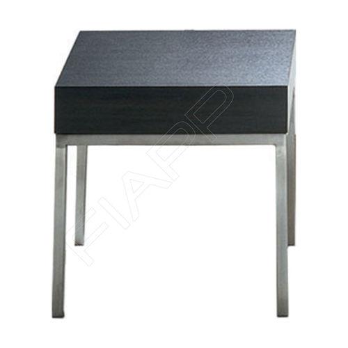 moderner Couchtisch / Edelstahl / quadratisch / Außenbereich