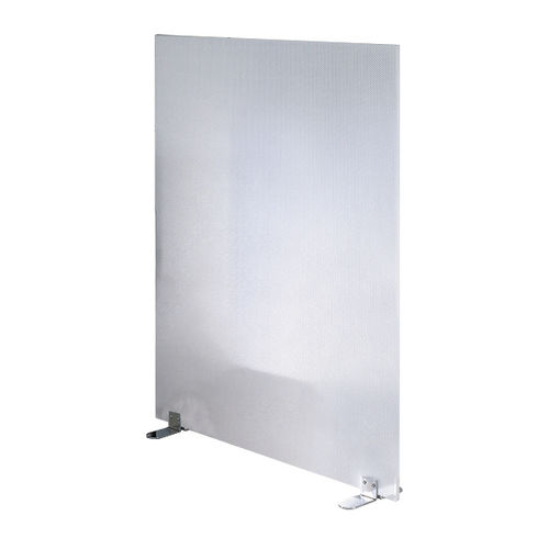 bodenstehende Bürotrennwand / Kunststoff / Stahl / Akustikstoff