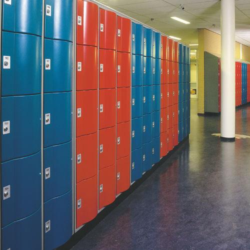 Metall-Garderobenschrank / für Schulen / gesichert