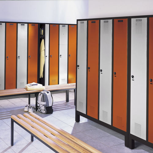 Stahl-Garderobenschrank / für öffentliche Einrichtungen / für Sportanlagen / für industrielle Nutzung