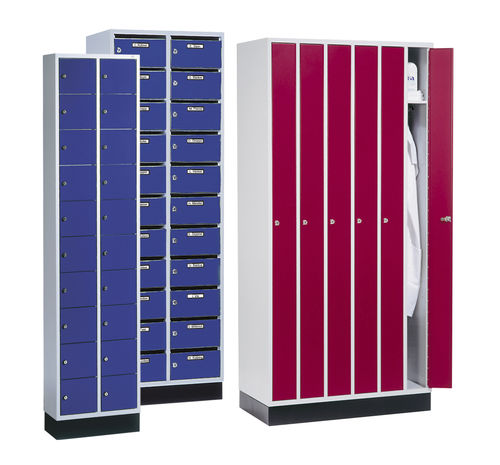 Stahl-Garderobenschrank / für öffentliche Einrichtungen / für Büro / für industrielle Nutzung