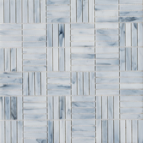 Innenraum-Mosaikfliese / Wand / Glas / mit geometrischem Muster