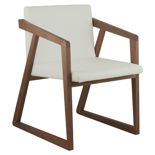 moderner Sessel / Holz / Kufen / Contract