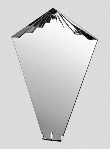 wandmontierter Spiegel / Art Deco