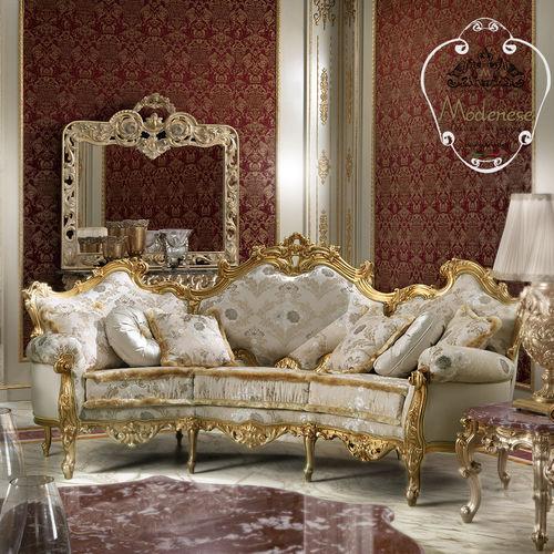 halbrundes Sofa / Stil / Stoff / Massivholz