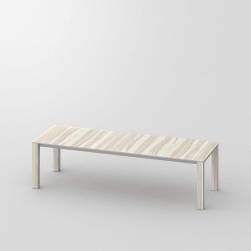 Esstisch / originelles Design / aus Eiche / aus Nussbaum / Massivholz