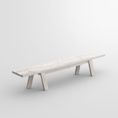Bank / originelles Design / aus Eiche / Massivholz / aus Nussbaum