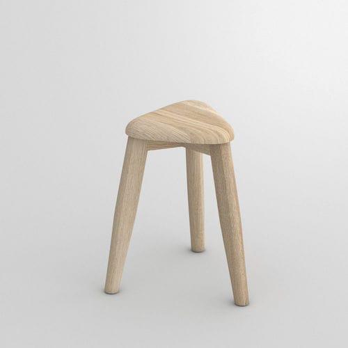moderner Hocker / aus Eiche / Massivholz / aus Buche