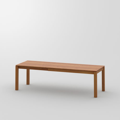 Design-Esstisch / aus Eiche / aus Nussbaum / Massivholz