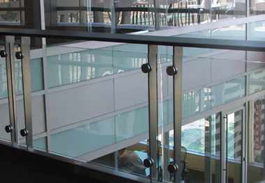Glas-Handlauf / Edelstahl