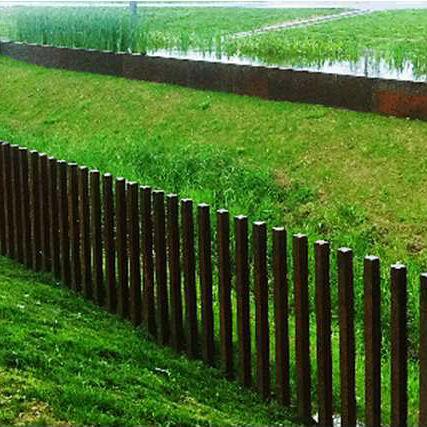 Zaun für Grünanlagen / für öffentliche Bereiche / Stangen / Platten