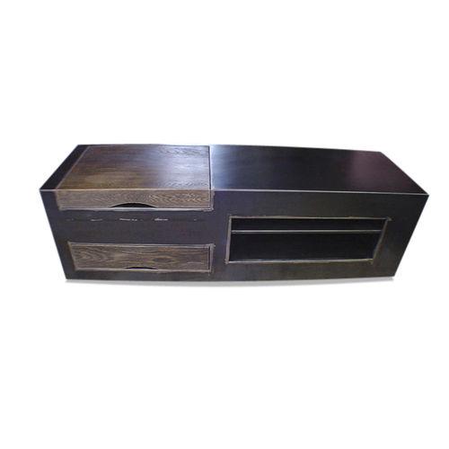 Industriestil-Sideboard / aus Eiche / Eisen / Stahlblech