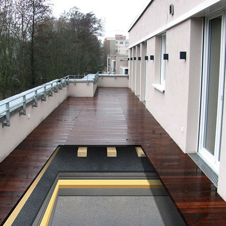 Isolierung zur Schalldämmung / Gummi / Polyurethan / für Dachterrasse