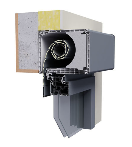 rollender Fensterladen / Lamellen / Aluminium / PVC