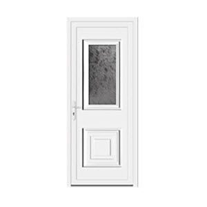 PVC-Tür / Eingang / einflügelig / Metall