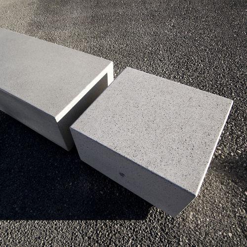 Parkbank / modern / Marmor / Kunststein