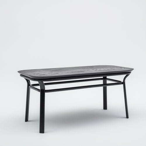 moderner Couchtisch / aus Esche / lackiertes MDF / Holzfurnier