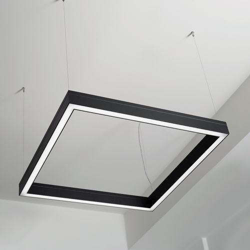 Hängeleuchte / LED / quadratisch / extrudiertes Aluminium