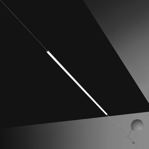 Hängelampe / modern / gestrichenes Aluminium / aus Methacrylat