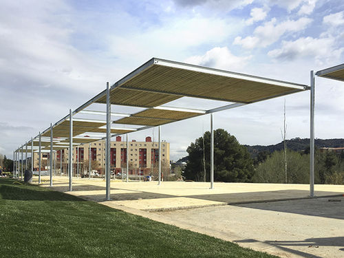 selbsttragende Pergola - URBADIS by Microarquitectura