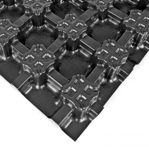 Drainage-Folie / aus Polyolefin / Wasserspeicher / für begrüntes Dach / recyceltes Material