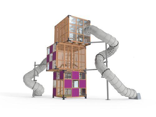 Spielplatzgerät für Spielplätze / für öffentliche Einrichtungen / Holz / modular