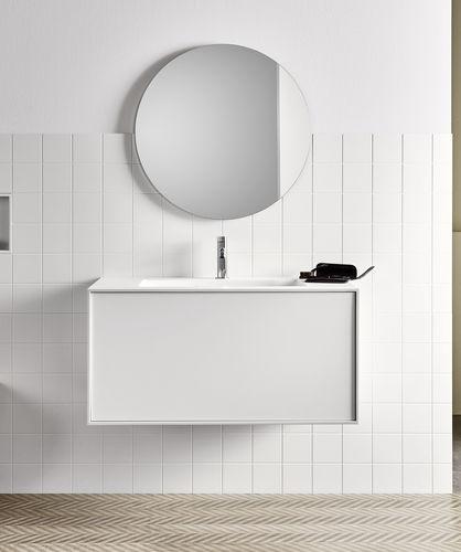 wandmontierter Spiegel für Badezimmer / modern / rund