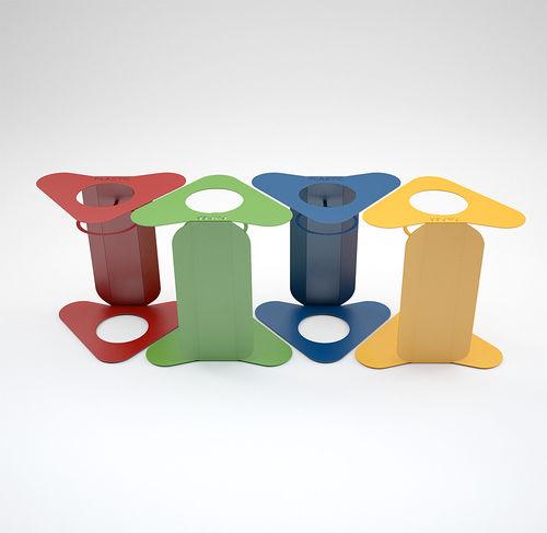 Park-Abfallbehälter / Stahl / System / Antiterror