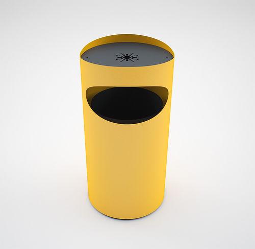 Park-Abfallbehälter / Stahl / mit integriertem Aschenbecher / modern