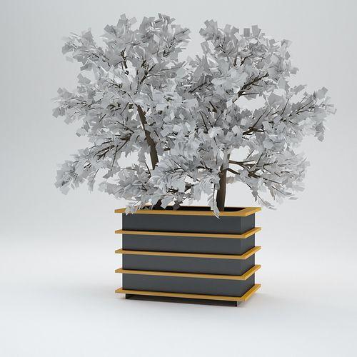 Metall-Pflanzkübel
