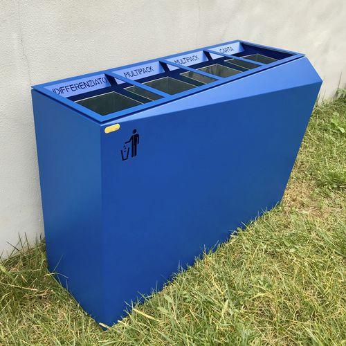Park-Abfallbehälter / verzinkter Stahl / aus lackiertem Stahl / modern