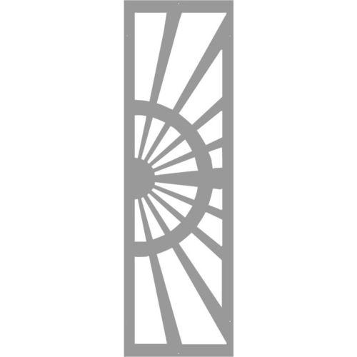einflügeliges Tor / Schiebe / Metall / Platten