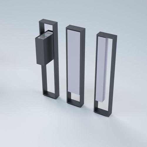 Garten-Leuchtpoller / modern / Aluminium / Stahl