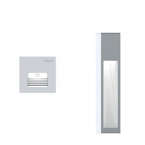 Aufbauleuchte / für Wandeinbau / LED / quadratisch