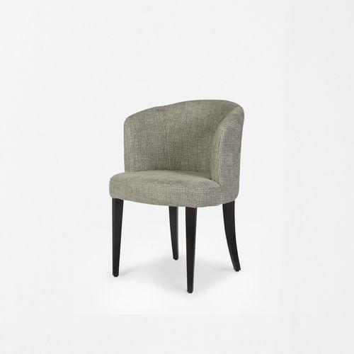 moderner Stuhl / Polster / Stoff / aus Esche
