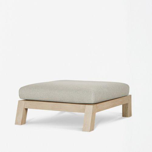 moderne Ottomane / Stoff / Holz / für den Garten