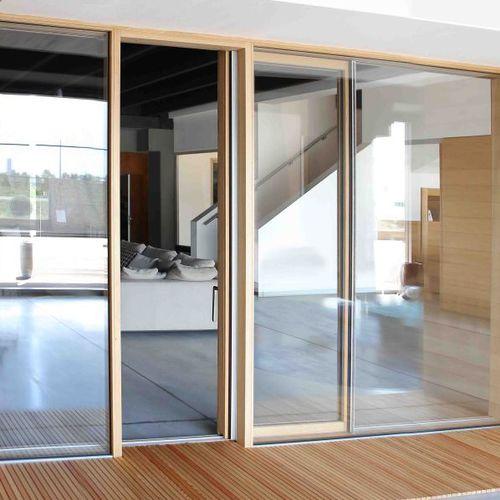 Schiebefenstertür / Holz / Doppelverglasung