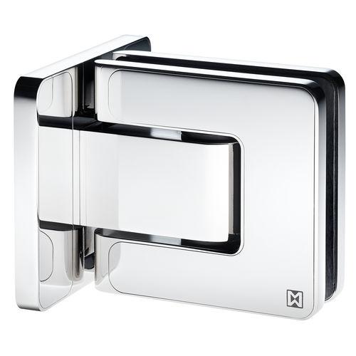 Glastüren-Scharnier / für Duschen / Edelstahl / Federdruck