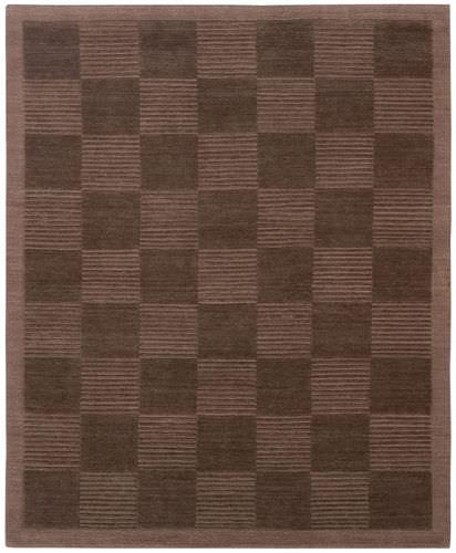 moderner Teppich / Karomuster / Wolle / rechteckig
