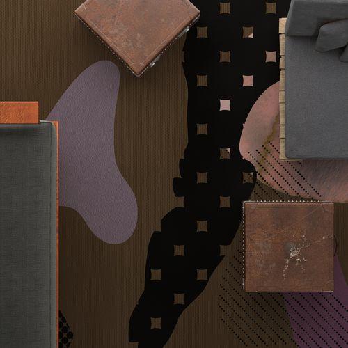 moderner Teppich / Motiv / Polyamid / rechteckig
