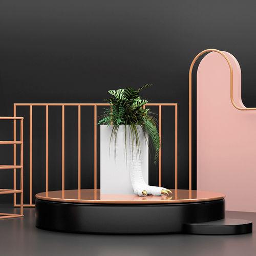 Gusseisen-Pflanzkübel / originelles Design / für öffentliche Bereiche / für Hotels