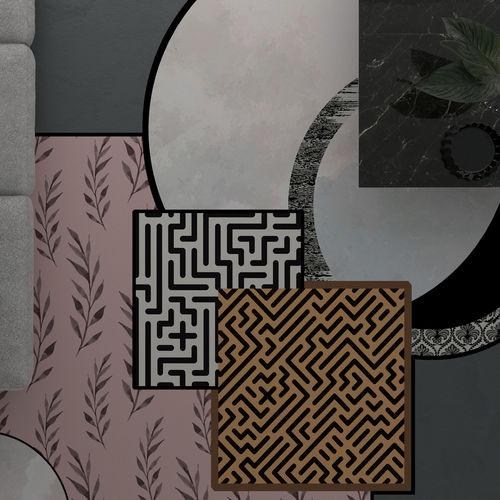 moderner Teppich / Motiv / Polyamid / Tuft