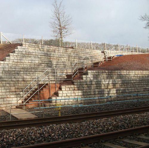 Beton-Stützmauer