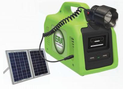 tragbares Solar-Komplett-Set