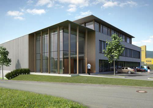 Fertigbau-Gebäude / Holz / für industrielle Nutzung / modern