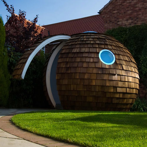 Fertigbau-Mikrohaus / Design / Holz / Stahl