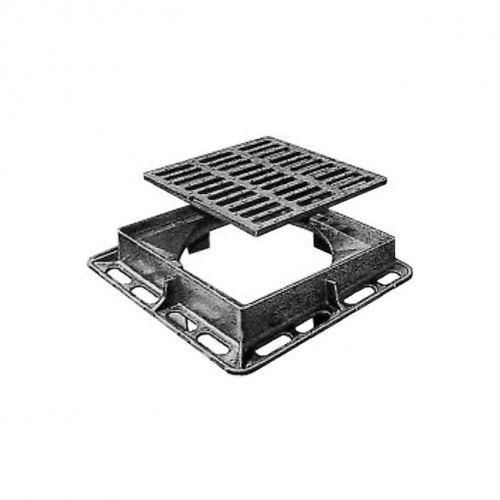 Gusseisen-Schachtdeckel / quadratisch / Lüftungsgitter