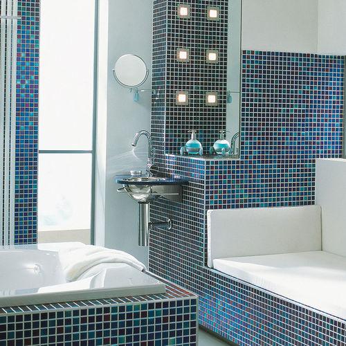 Badezimmer Mosaikfliese M2 Sky Blue Jasba Mosaik Wand Boden Feinsteinzeug